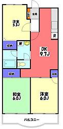 東京都八王子市元八王子町2丁目の賃貸マンションの間取り