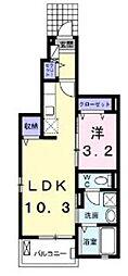 つくばエクスプレス 八潮駅 バス14分 中川やしおフラワーパーク下車 徒歩4分の賃貸アパート 1階1LDKの間取り
