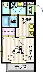 東急池上線 戸越銀座駅 徒歩3分の賃貸マンション 1階1Kの間取り