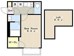 神奈川県相模原市中央区相生4丁目の賃貸アパートの間取り