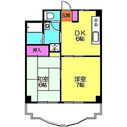 たまプラーザ第3エステービル[2階]の間取り