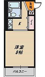 オノライトマンション[B402号室]の間取り