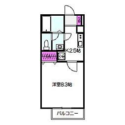 Osaka Metro中央線 緑橋駅 徒歩10分の賃貸アパート 1階1Kの間取り
