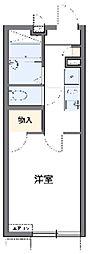 東急田園都市線 江田駅 徒歩11分の賃貸アパート 2階1Kの間取り