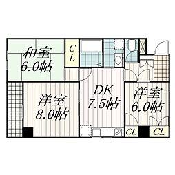 幕張本郷マンション[303号室]の間取り