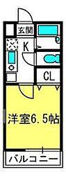 埼玉県さいたま市見沼区深作3丁目の賃貸アパートの間取り