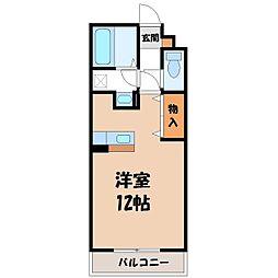 栃木県小山市大字大行寺の賃貸アパートの間取り