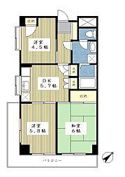 サンライフ荏田[4階]の間取り