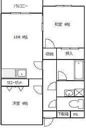 神奈川県横浜市青葉区もみの木台の賃貸マンションの間取り