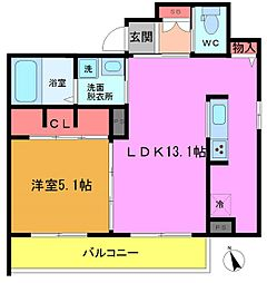 (仮)八幡5丁目シャーメゾン[101号室]の間取り