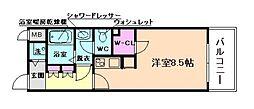 アドバンス西梅田[7階]の間取り