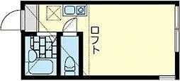 Good will横浜 2階ワンルームの間取り