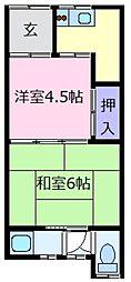 山川文化[1階]の間取り