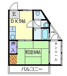メゾン天美[2階]の間取り