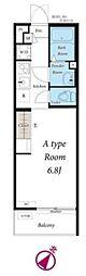JR京葉線 稲毛海岸駅 徒歩11分の賃貸アパート 2階1Kの間取り