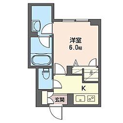 Menlo Park Residence 3階1Kの間取り