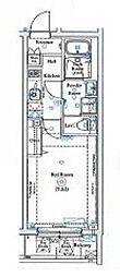 西武池袋線 椎名町駅 徒歩4分の賃貸マンション 3階1Kの間取り
