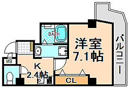 JR福知山線 伊丹駅 徒歩4分の賃貸マンション 5階1Kの間取り