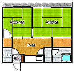 北崎荘[3号室]の間取り