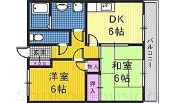 土師マンション[3階]の間取り