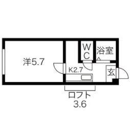 白石駅 1.8万円