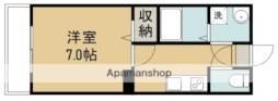 CINZA東仙台 1階1Kの間取り