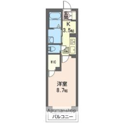 仮称)姉ヶ崎駅東口マンションNo.1 1階1Kの間取り