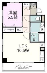 サンシャインヤマト 3階1LDKの間取り
