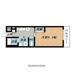 近鉄大阪線 名張駅 徒歩6分の賃貸アパート 2階1Kの間取り