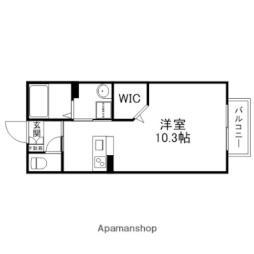 JR北陸本線 田村駅 徒歩4分の賃貸アパート 1階ワンルームの間取り