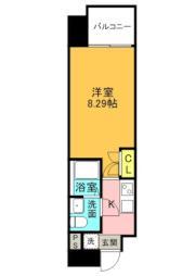 Osaka Metro谷町線 都島駅 徒歩6分の賃貸マンション 2階1Kの間取り