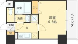 JR大阪環状線 京橋駅 徒歩6分の賃貸マンション 3階1Kの間取り