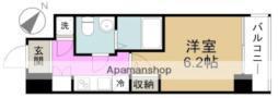 アドバンス西梅田ラシュレ 4階1Kの間取り