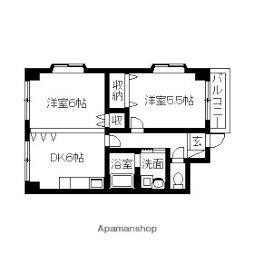 JR東海道・山陽本線 東淀川駅 徒歩6分の賃貸マンション 1階2DKの間取り