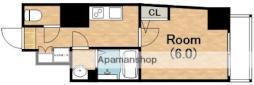 Osaka Metro谷町線 阿倍野駅 徒歩6分の賃貸マンション 12階1Kの間取り