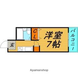 Osaka Metro長堀鶴見緑地線 横堤駅 徒歩6分の賃貸マンション 4階1Kの間取り
