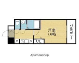 アドバンス大阪城シュアーヴ 9階1Kの間取り