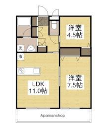 Fujiki Corpo 2L 3階2LDKの間取り
