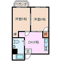 富田中央ビルの間取り
