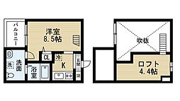 ブルーアゲート[1階]の間取り
