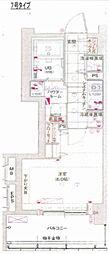 エスライズ大阪ドームシティ 2階1Kの間取り