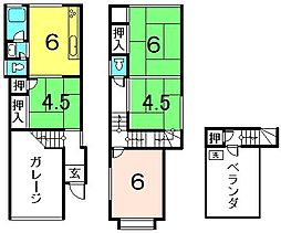 [一戸建] 京都府京都市伏見区淀新町 の賃貸【/】の間取り
