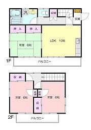 [一戸建] 神奈川県横浜市青葉区藤が丘1丁目 の賃貸【/】の間取り