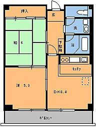 ハイラーク千葉B棟[213号室]の間取り