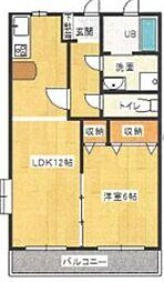 M's station 3階1LDKの間取り