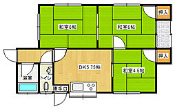 [一戸建] 愛媛県新居浜市中村3丁目 の賃貸【/】の間取り