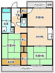 山口県下関市秋根本町1丁目の賃貸アパートの間取り