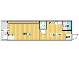内田学生マンション[2階]の間取り