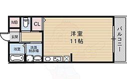 ラ・メゾン セハヤ 2階ワンルームの間取り