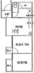 小山荘[3号室]の間取り